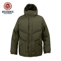 mens nylon goose down snowboard jacket