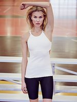 OEM service low MOQ latest collection sexy women white tight tank top