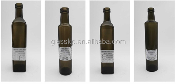 wholesales dark green glass olive oil bottle