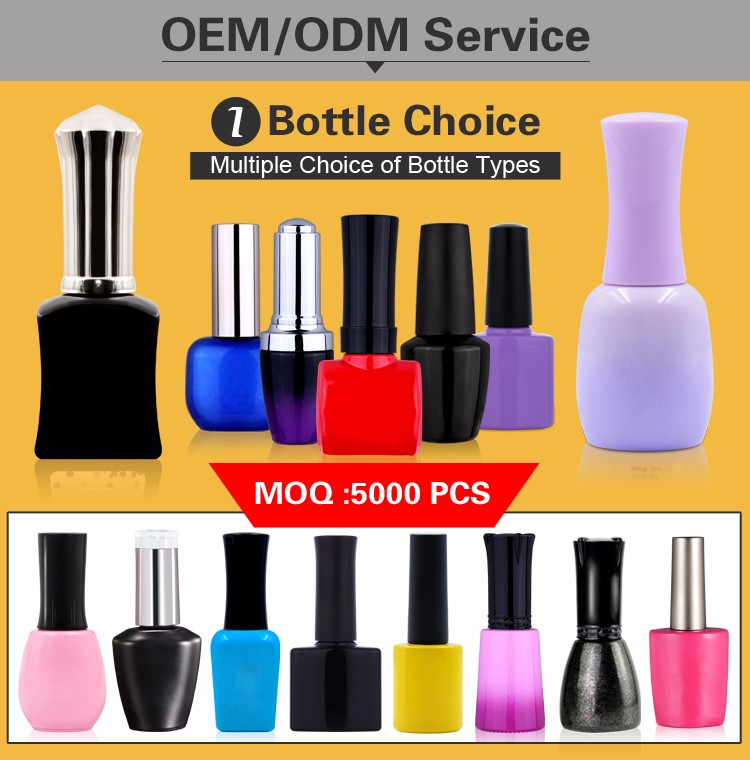 China Manufacturer empty UV Gel Nail Polish Private Label Bottle 7.3ml