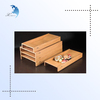 Classic lacquered natural wood Japanese food sushi tray