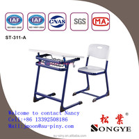 School Furniture Adjustable Single Kids Desk and Chair