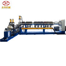 Plastic two stage pelletizing/granulating/recycling extruder machine