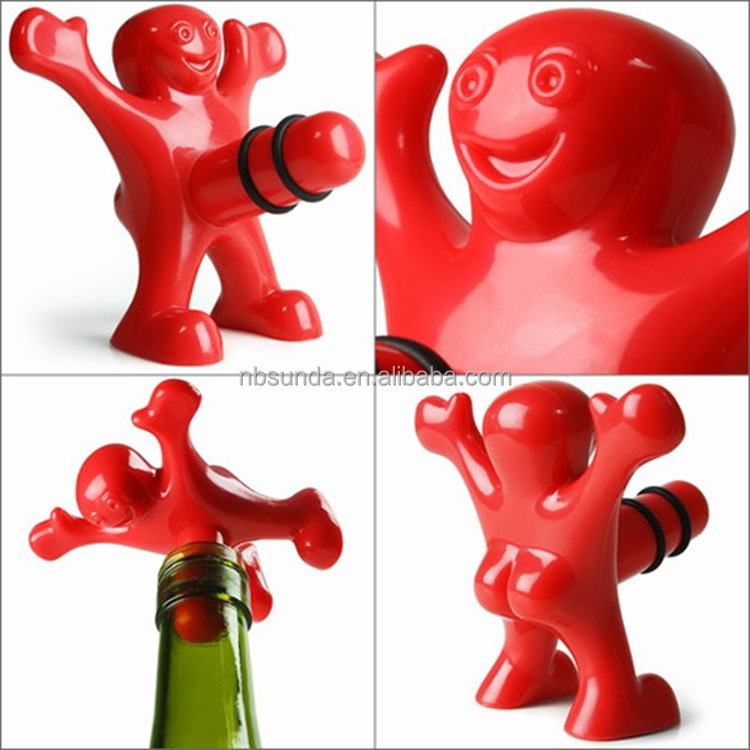 Funny plastic cheap wine bottle stopper manufacturer/For adult red wine bottle stoppers wholesale/Wholesale Plastic Wine Stopper