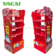 Innovative 2-sides Cardboard Pallet Display with shelves for Chocolate, Sturdy Cardboard pallet display for promotion