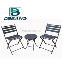Folding Chair and Table Set -- Garden Bistro Set