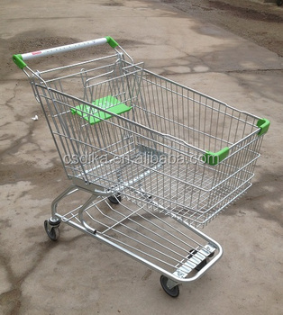 180L American style supermarket folding shopping carts