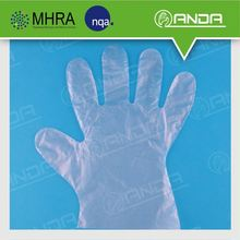 AD006 CE ISO quality HDPE disposable arm length gloves for hand