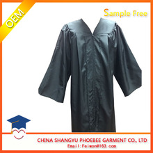 Good price Black matte graduation gown disposable and cap