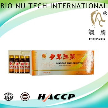 function drink for reduced energy ginseng antler royal jelly 1 group