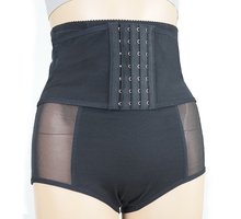 Breathable Mesh 4 Row Hook High Waist Slimming Panty Girdle