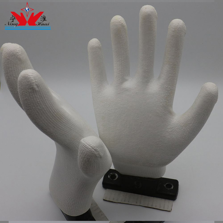Wholesale Grey Elastic Polyester PU Coated Colorful /Wroking/Garden/Anti Slip/Antistatic/customizable Gloves For Direct Selling