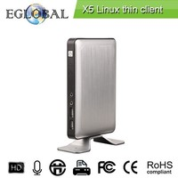 The latest smart thin client X5RDP8.0Quad Core Linux Kernel Thin Client Cloud Computer for Multi Users 1GB RAM 8GB Flash HD 720P
