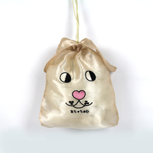 Custom Logo Printed Foldable Net Cloth Fabric Backpack Bag Cute Dog Rope Drawstring Bags
