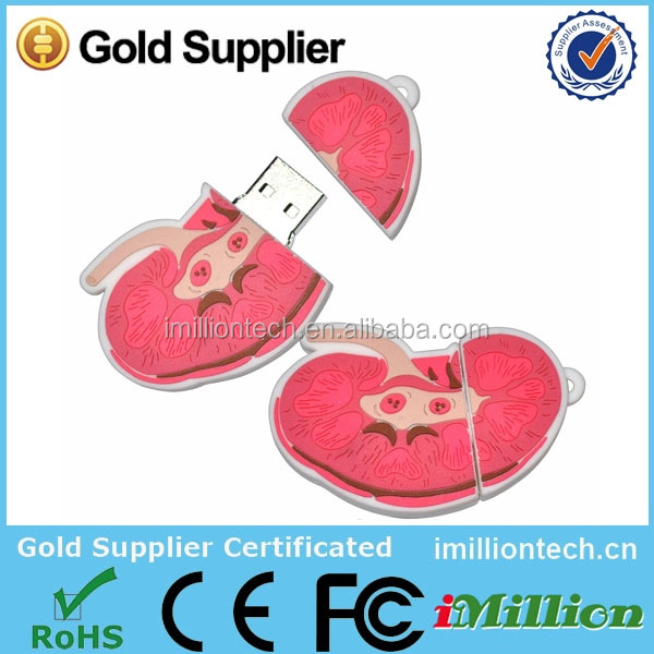Special Human Organ Liver Shape USB Pendrive for Medical Promotion Gift