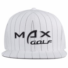 White stripe hat custom 3D embroidery outdoor baseball caps