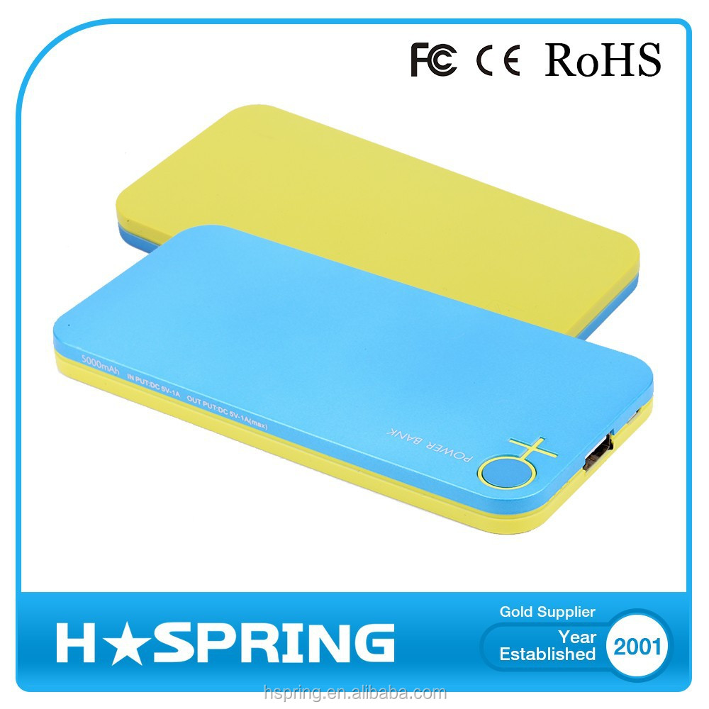 Portable 2015 New Design high capacity lime power bank
