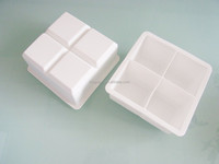 Complete Ice cube Maker Mold - 4 Whiskey Ice cubes -Premium Square Tray--white color
