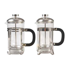 600ml High quality glass coffee cup with metal stand coffeepot