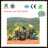Children Outdoor Playground big slides for sale/ cheap school playground equipment/ big toy playground equipment QX-B0702