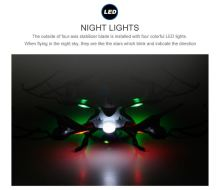 JXD 509 RC Helicopter 2.4G 6AXIS One-Key-return Headless Remote Control Quadcopter with LED lights Toys USB Charger Drones