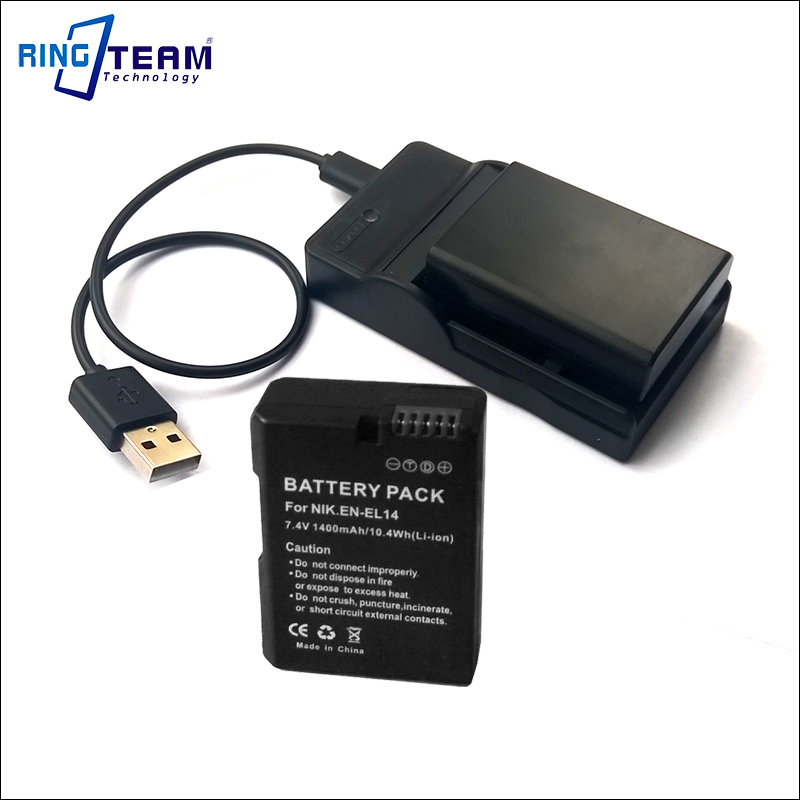 EN-EL14 EL14a USB Charger for Nikon Battery Camera Coolpix P7800 P7700 P7100 P7000 D5500 D5300 D5200 D3200 D3300 D5100 D3100