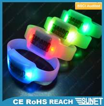 party suplies sunjet new products silicone bracelet battery made in china