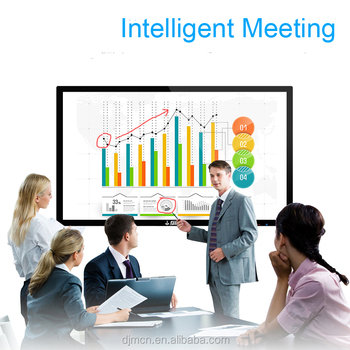 65-inch I5 4G 500G hot-selling products android and pc interactive whiteboard TV smart TV advertising and demonstration