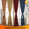 Fancy Hotel curtains soft thick linen&cotton fabric/color can joint