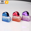 50ml heart shaped glass high quality refill perfume empty bottle with UV cap