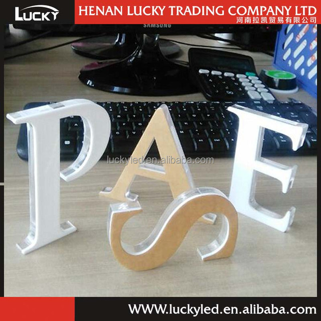 Crystal Acrylic Cheap Plastic Letters