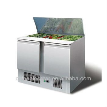 stainless steel refrigerated Saladettes case for kitchen and restaurant use