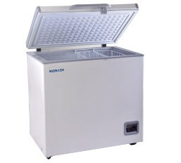 Best price -40 degree 300L horizontal chest type Low Temperature deep Freezer, refrigerator for medical and lab use