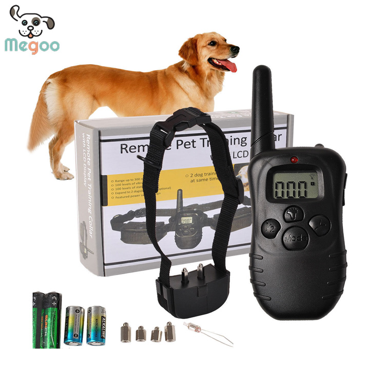 LCD DIsplay Electric Dog Collar Battery Operated Dog Shock Collar With Remote