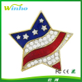 star American jeweled national flag pin badge