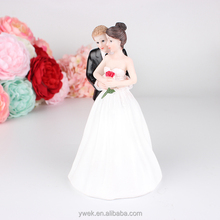 Yes to the Rose Bride and Groom Couple Figurine Wedding Cake Topper