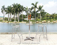 Hot sale outdoor folding high top tall bar tables and chairs for sale