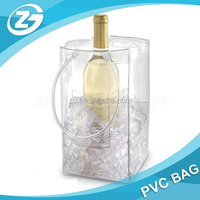 Factory Custom Cheap Waterproof Foldable Wine Bag Ice Plastic Bags