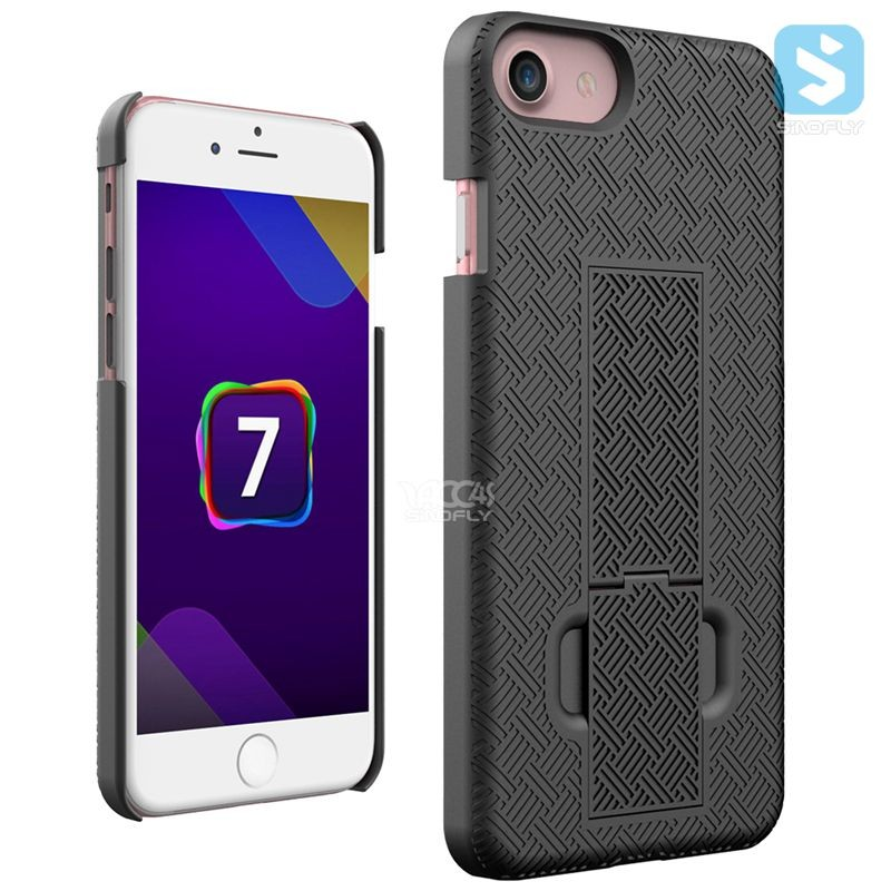 Anti Slide 3 In 1 Belt Clip Holster Case For iphone 7 Slim Combo Armor Case