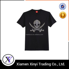 Popular Men Black 100% Cotton Label Free T-shirt