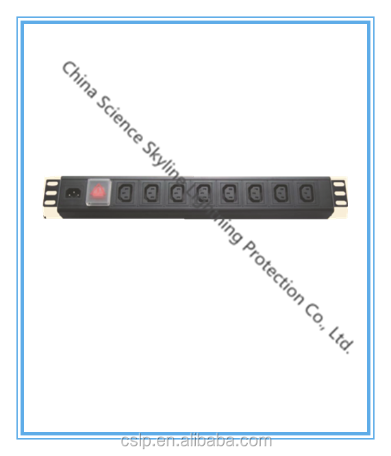 China popular good price PDU Plug in Socket Power Distribution unit Protector with Switch