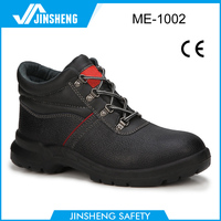 Basic style action leather pu sole safety shoes