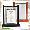 Swing Wooden Frame Table Acrylic Menu