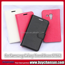 Leather cover cases for Samsung Galaxy Trend Duos S7562