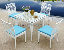PE rattan/wicker weave outdoor/balcony/garden/furniture/dining table/chair