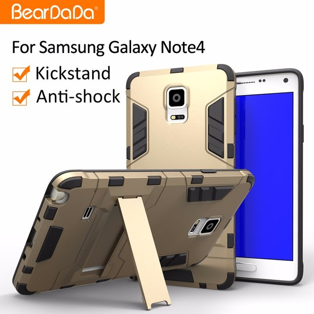 Anti shock kickstand for samsung galaxy note 4 case