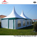 guangzhou tent 6x6m white and green color outdoor pagoda tent for sale
