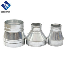 Galvanized Stee duct Fitting Concentric Reducer with Rubber