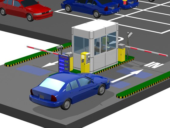 Low Cost Input Parking Toll Gate System and Automatic Car Park Barrier System