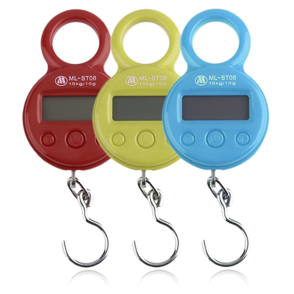 Mini 10Kg/10g Portable LCD Display Luggage Fishing Hook Electronic Weight Digital Scale Pocket Weighing Hanging Scale